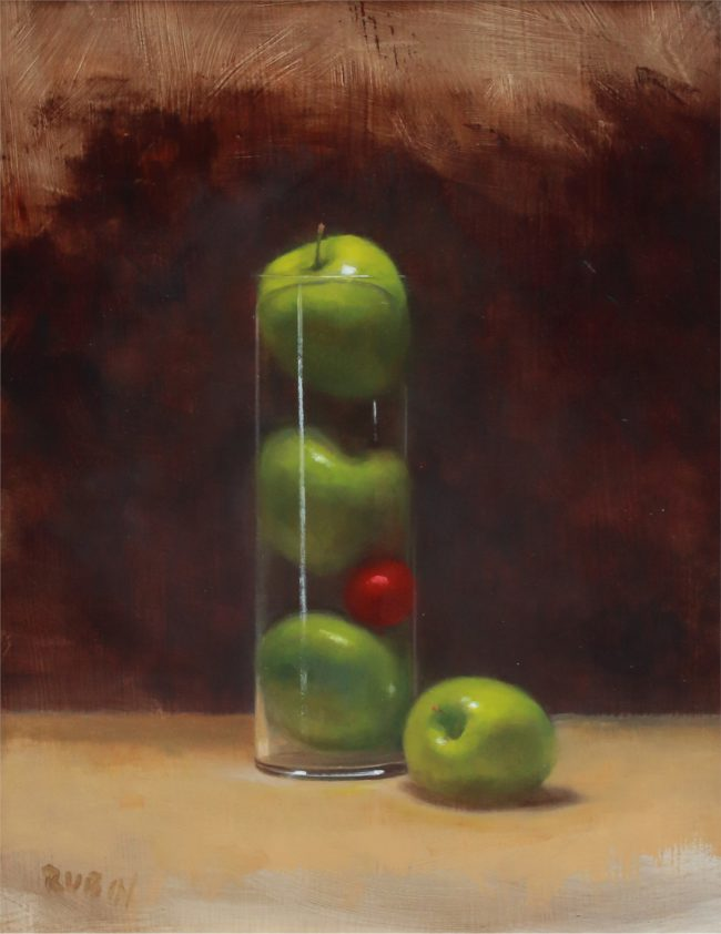 Marc Rubin Painting Lost in Space Oil on Panel