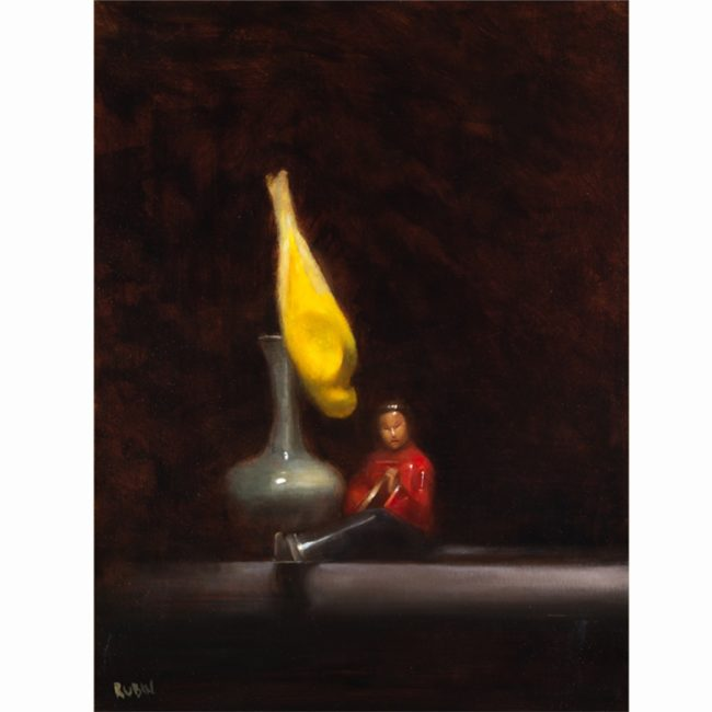 Marc Rubin Painting Serenade Oil on Panel