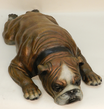Bill and Renee Shisler Sculpture English Bulldog Bronze
