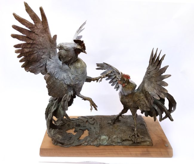 Dan Chen Sculpture That's What They Do Bronze