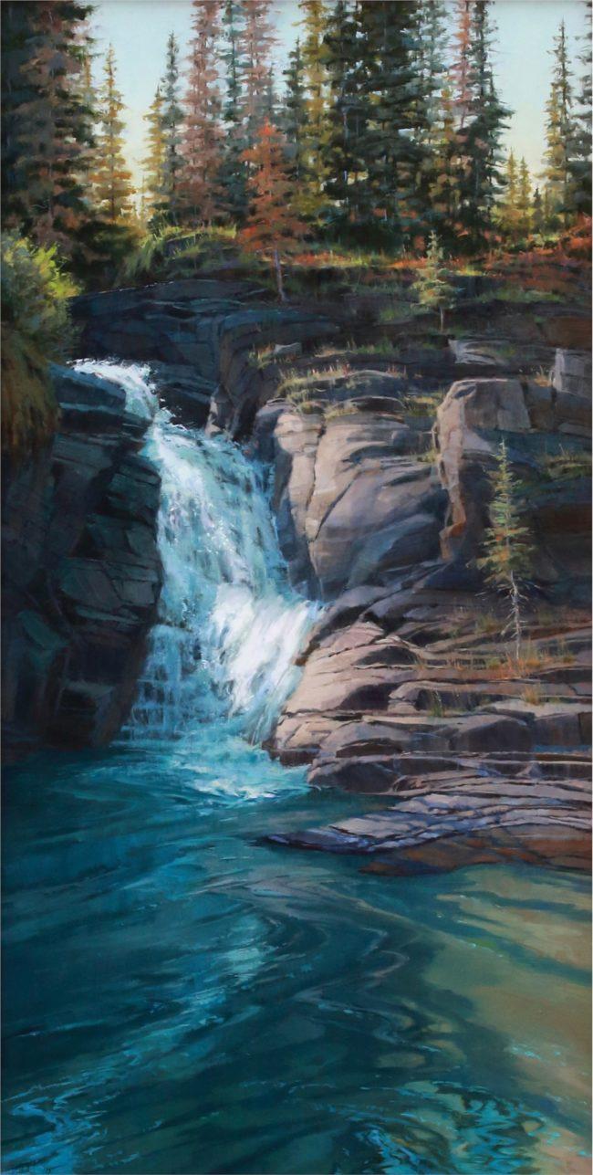 Darcie Peet Painting Cascades Of Cool Oil on Linen