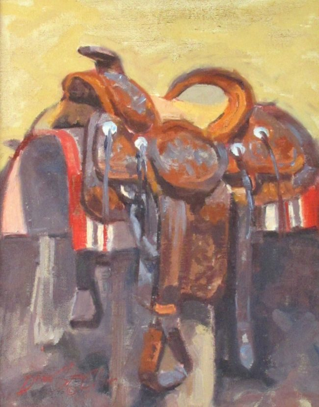 Dean St. Clair Painting Saddle Study Oil on Canvas