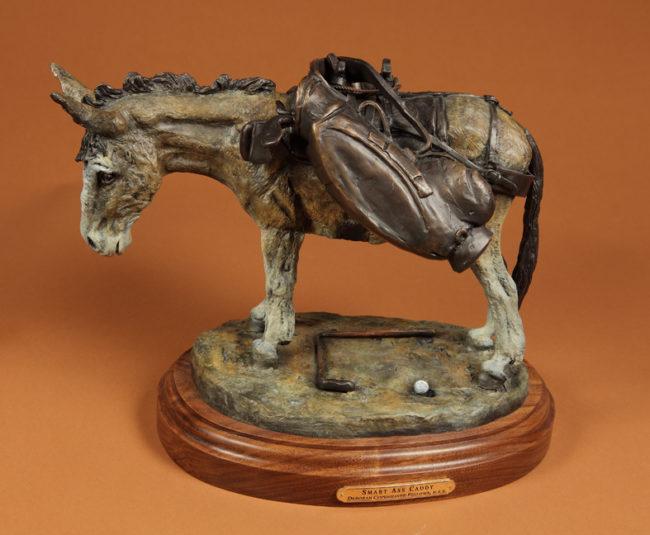 Deborah Copenhaver-Fellows Sculpture Smart Ass Caddy Bronze