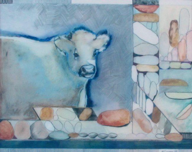 Fay Golson  Steak and Potatoes Mixed Media