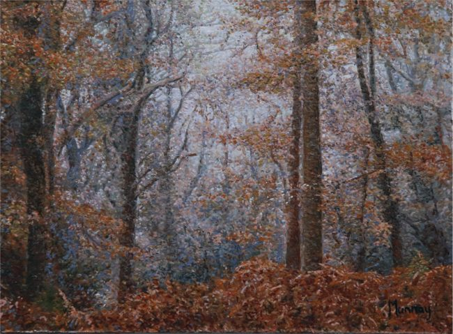 Karla Murray Painting Mist in Primitive Woods Oil on Board
