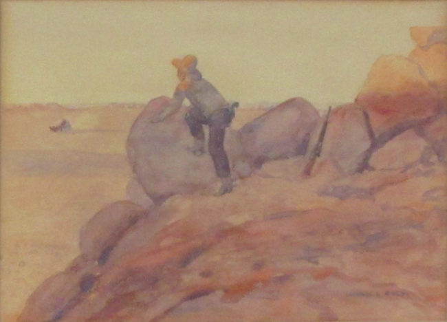 Leonard Reedy Painting The Lone Bandit Mixed Media on Paper