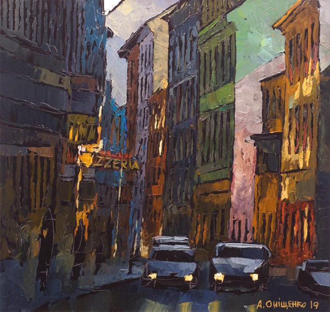 Alexandr Onishenko Painting Evening Soukenicka Oil on Canvas