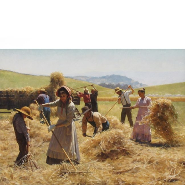 Benjamin Wu Painting In The Hayfield Oil on Canvas