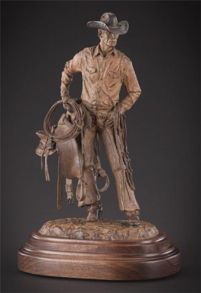 Bill Nebeker CA Sculpture Beats Any Job In Town Bronze