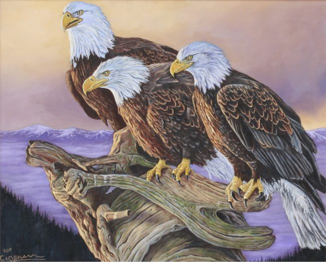 Cody Oldham Painting Masters of the Sky Oil on Canvas