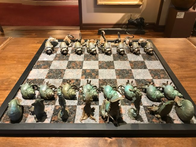 Dan Chen Sculpture Chess Set II - Desert vs. Sea Bronze