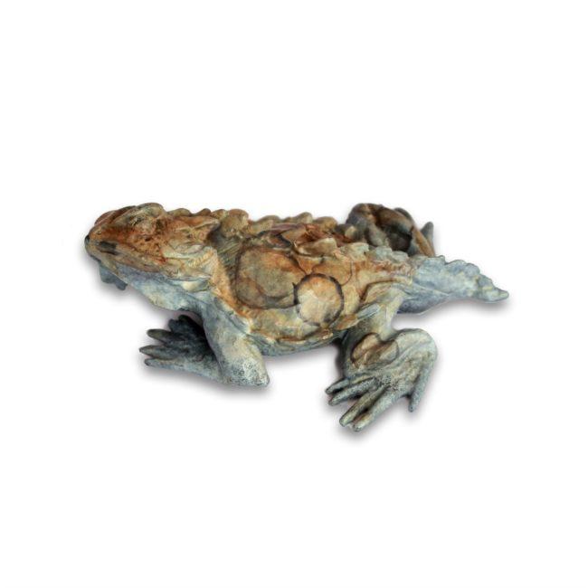 Dan Chen Sculpture Horned Toad Lizard B Bronze