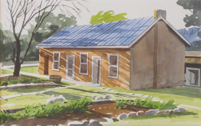 Dean St. Clair Painting Home Watercolor