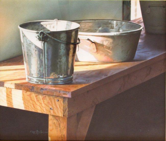 Dean St. Clair Painting Pail Watercolor