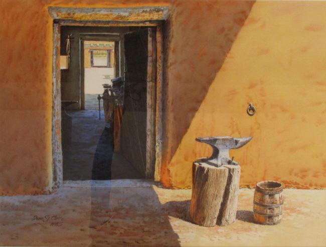 Dean St. Clair Painting Passage Martinez Hacienda Watercolor