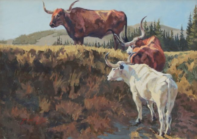 Dean St. Clair Painting Tres Solteros Oil on Canvas