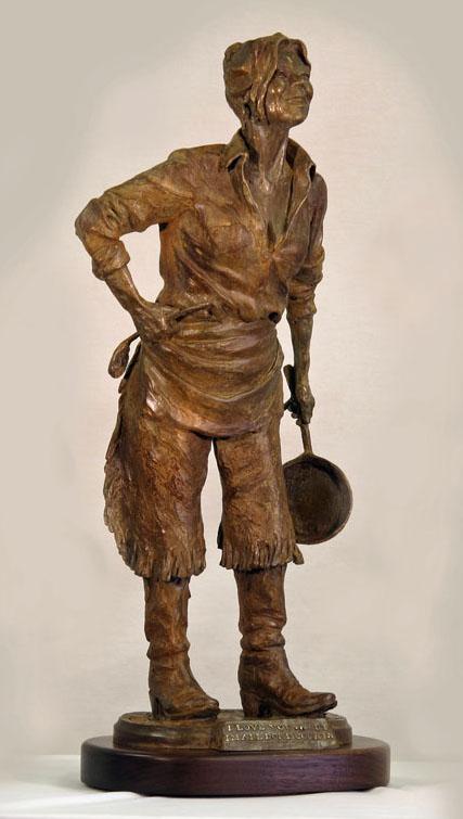 Deborah Copenhaver-Fellows Sculpture I Love You ... But I'm All Done Cookin' Bronze