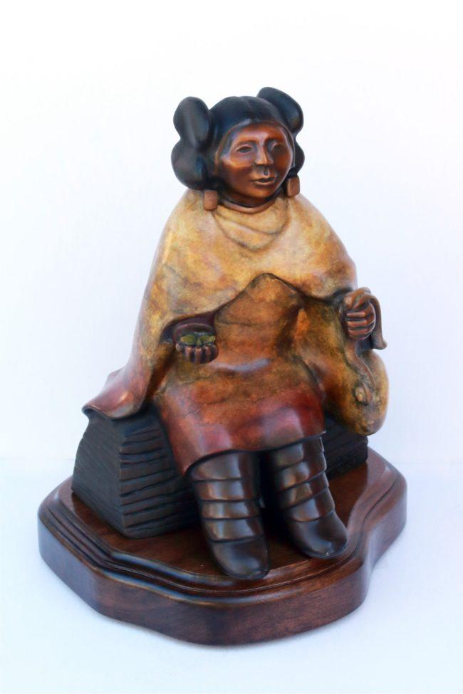 Doug Hyde Sculpture Hopi Canteen Bronze