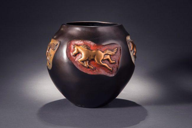 Doug Hyde Sculpture Wild Ponies Bronze