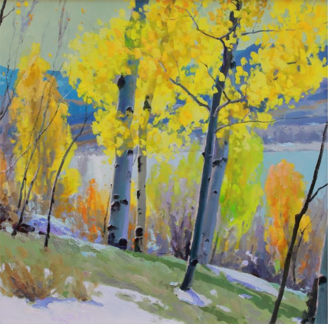 Gregory Packard Painting Autumn Brilliance Oil on Panel