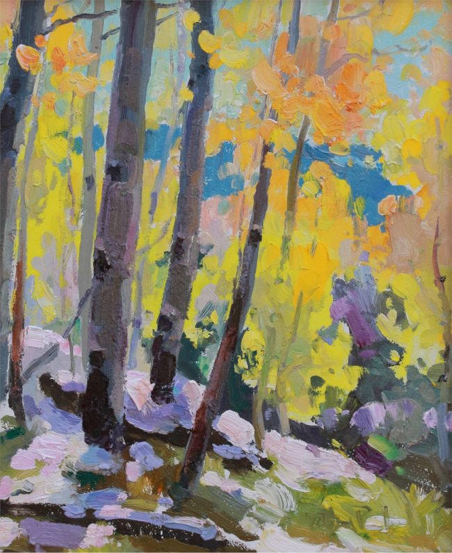 Gregory Packard Painting First Snow Oil on Panel