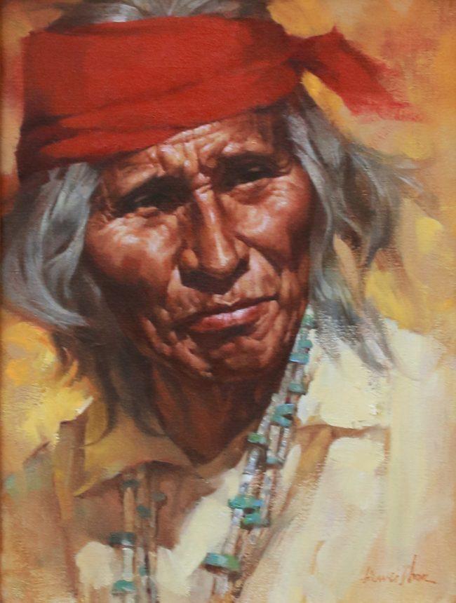 Jie Wei Zhou Painting Wisdom Oil on Canvas
