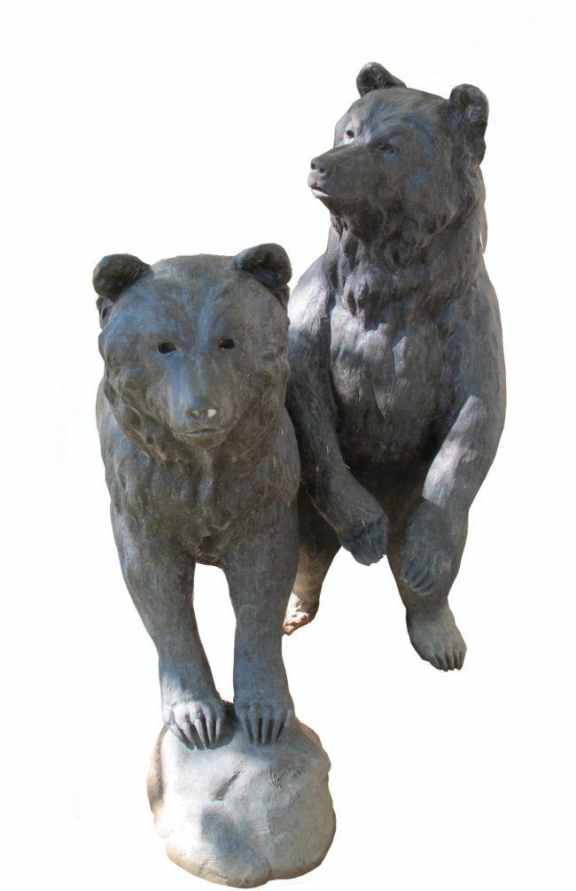 Jim Agius Sculpture Bear Cubs Bronze