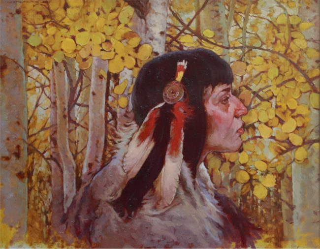 Joseph Lorusso Painting Spirit of the Forest Oil on Panel