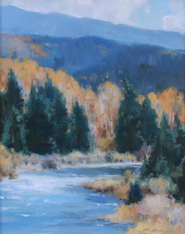 Kate Kiesler Painting River Melody Oil on Board