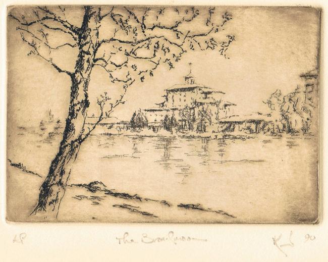 Kent Talmage-Bowers Printmaking The Broadmoor Etching