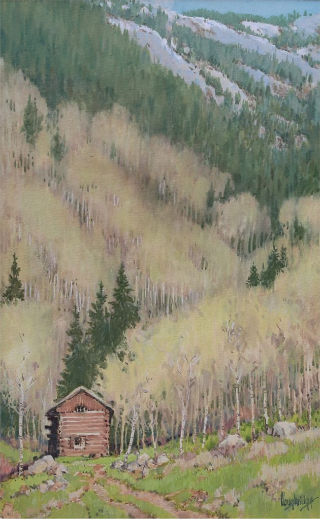 Leon Loughridge Painting Old Ice House Watercolor