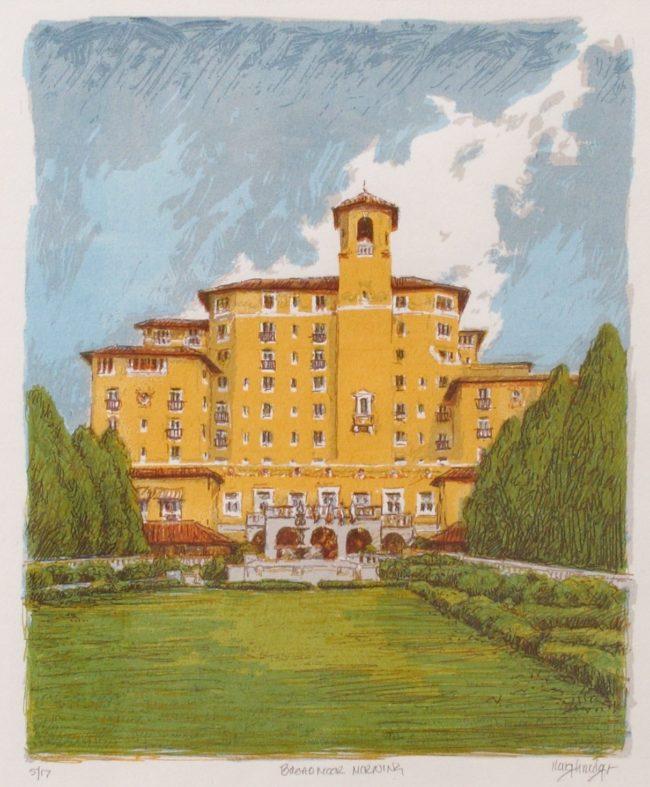 Leon Loughridge Printmaking Broadmoor Morning Serigraph