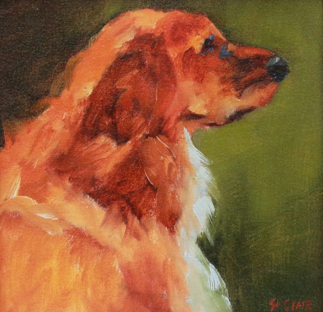 Linda St. Clair Painting Golden Boy Oil on Canvas