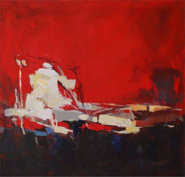 Nazar Harran Painting At Sunset Acrylic on Canvas