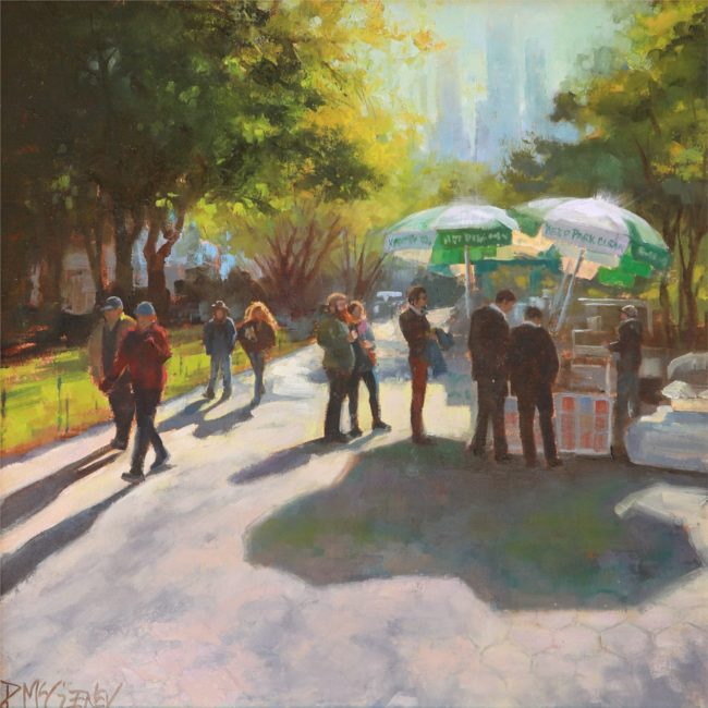 Patricia McGeeney Painting Keep the Park Clean Oil on Linen