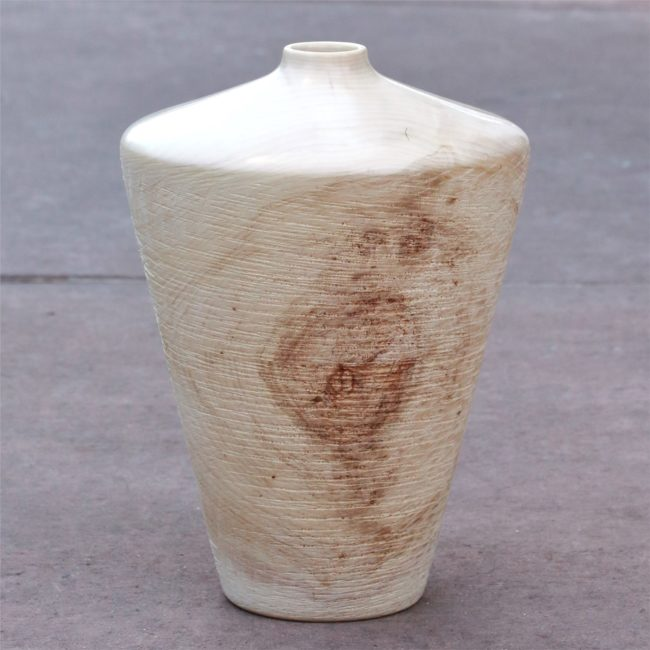 Robert Gray Sculpture Aspen Vessel 20-07 CO Aspen Wood