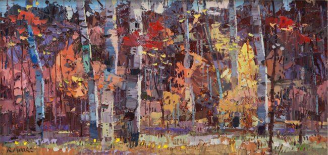 Robert Moore Painting Autumn Cool Oil on Board