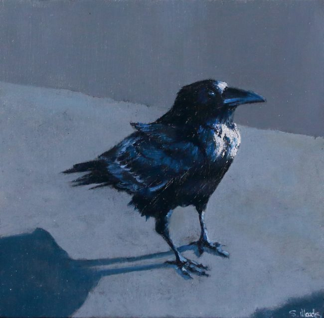 Sarah Woods Painting Hugin Oil on Board