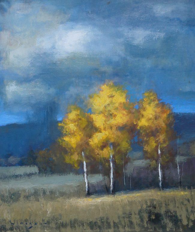 Seth Winegar Painting Alpine Clouds Oil on Panel