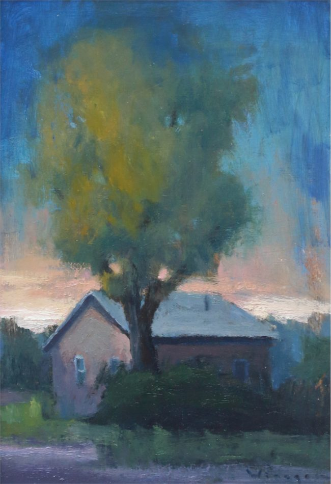 Seth Winegar Painting Summer Storm Oil on Panel