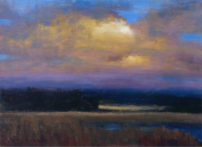 Seth Winegar Painting Sun Lit Oil on Panel