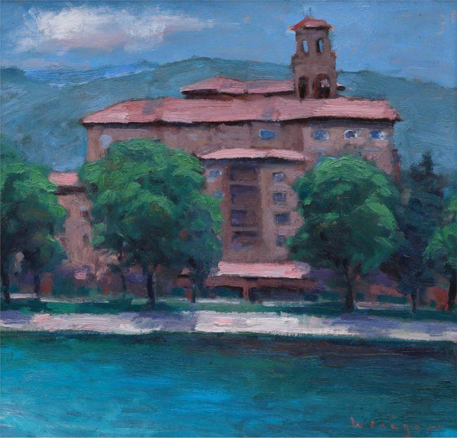 Seth Winegar Painting The Broadmoor Oil on Panel