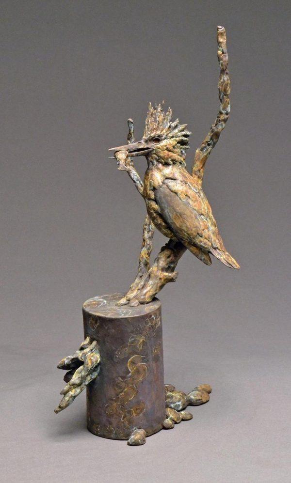 Stefan Savides Sculpture Fish Finder Bronze