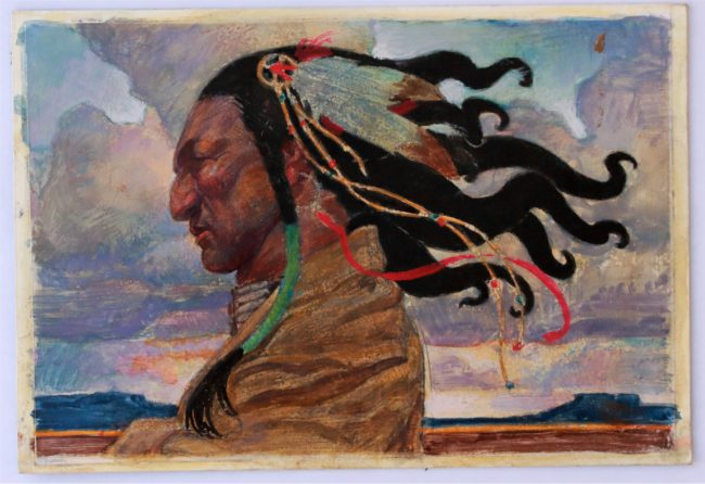 Thomas Blackshear Painting Mighty Wind Study Mixed Media on Paper