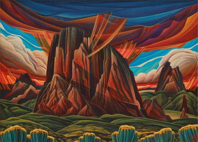 William Haskell Painting Garden of the Gods Acrylic on Panel
