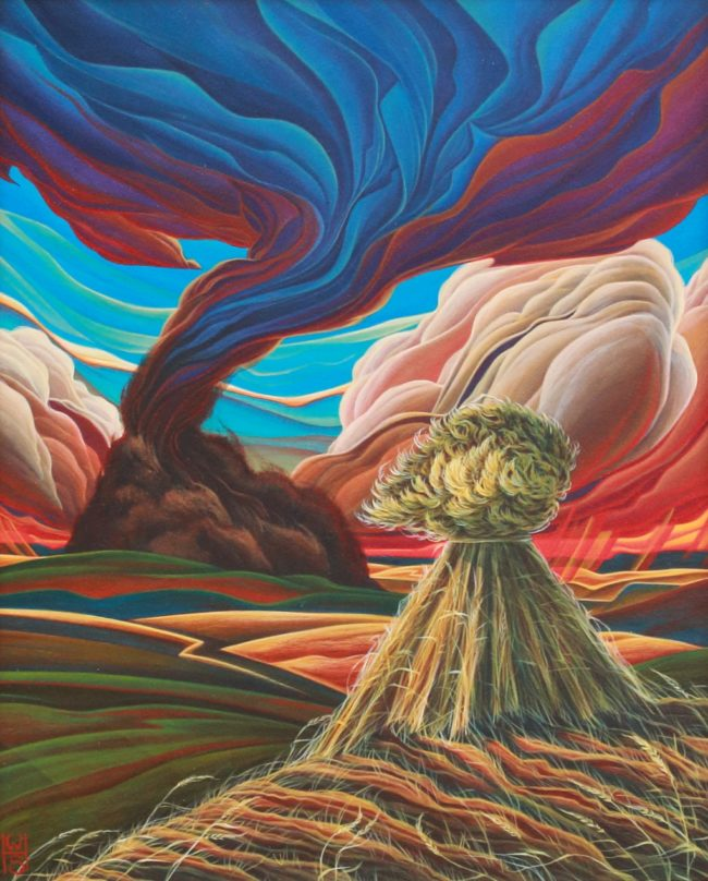 William Haskell Painting Tumultuous Acrylic on Panel