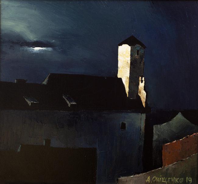 Alexandr Onishenko Painting Moonlight Oil on Canvas