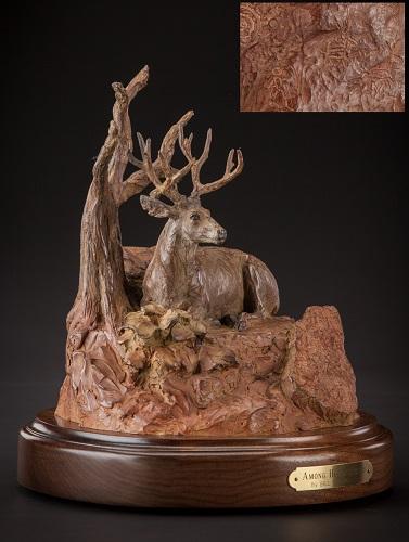 Bill Nebeker CA Sculpture Among His Ancestors Bronze