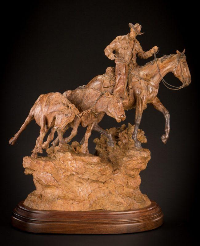 Bill Nebeker CA Sculpture Double Trouble Bronze