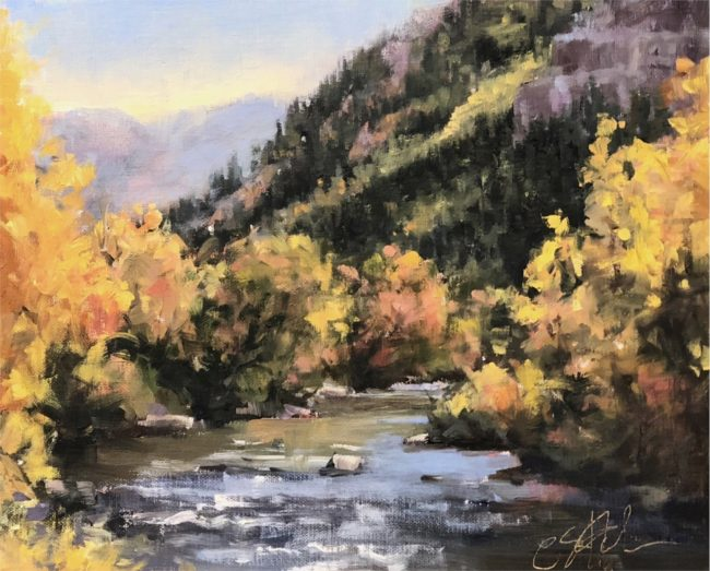 Cheryl St. John Painting Gold Strike Oil on Panel